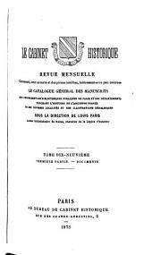 Le Cabinet historique: Volume19