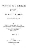 Political and Military Events in British India PDF