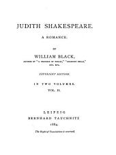 Judith Shakespeare: A Romance, Volume 2