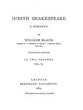 Judith Shakespeare: A Romance, Volume 2