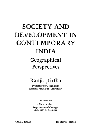 Society and Development in Contemporary India PDF