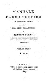 A. - C.: Volume 1