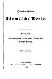 Heinrich Heine's sammtliche werke: Bd. Wintermahrchen. Atta Troll. Romanzero. Neueste Gedichte