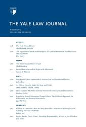 Yale Law Journal: Volume 123, Number 5 - March 2014