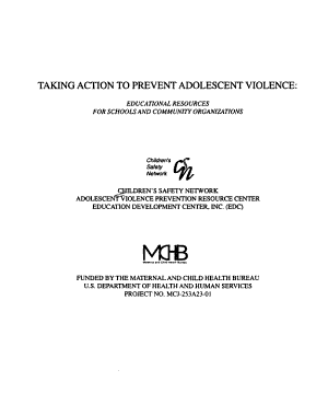 Taking Action to Prevent Adolescent Violence PDF