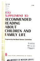 Recommended Reading about Children and Family Life