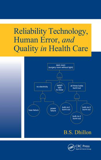 Reliability Technology  Human Error  and Quality in Health Care PDF