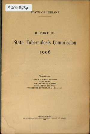 Report of State Tuberculosis Commission  1906     PDF