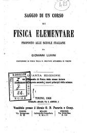 Saggio di un corso di fisica elementare: proposto alle scuole italiane da Giovanni Luvini