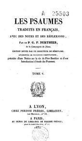 Les Psaumes traduits en français avec des notes et des réflexions