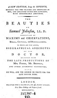 The Beauties of Samuel Johnson  LL D  Consisting of Maxims and Observations     to which are how Added Biographical Anecdotes of the Doctor     PDF