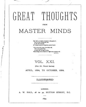 Great Thoughts from Master Minds PDF