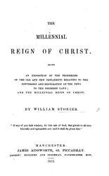 The Millennial Reign Of Christ Book PDF