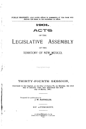 Laws Passed by the General Assembly of the Territory of New Mexico