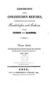 Geschichte des osmanischen Reiches: Bd. 1574-1623