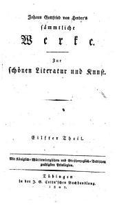 Johann Gottfried von Herders sämmtliche Werke: Zur römischen Literatur. Antiquarische Aufsätze