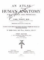 An atlas of human anatomy: for students and physicians, Part 1