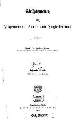 Allgemeine Forst  und Jagdzeitung0 PDF