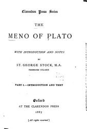 The Meno of Plato: Introduction and text