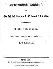 Oesterreichische Zeitschrift für Geschichts-und Staatskunde