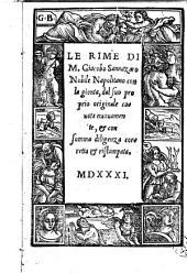 Le rime di m. Giacobo Sannazaro nobile napolitano con la gionta, dal suo proprio originale cauata nuouamente, & con somma diligenza correta & ristampata