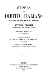 Storia del diritto italiano: dalla caduta dell'Impero romano alla codificazione, Volume 6,Parte 2