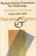 Modern Indian Literature, an Anthology: Surveys and poems