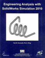 Engineering Analysis with SolidWorks Simulation 2010 PDF