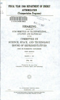 Fiscal Year 1988 Department of Energy Authorization PDF