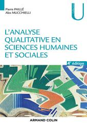 L'analyse qualitative en sciences humaines et sociales - 4e éd.