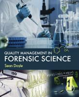 Quality Management in Forensic Science PDF