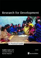 Research for Development PDF