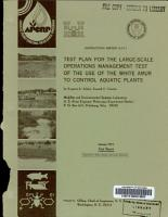 Test Plan for the Large scale Operations Management Test of the Use of the White Amur to Control Aquatic Plants PDF