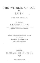 The Witness of God and Faith: Two Lay Sermons