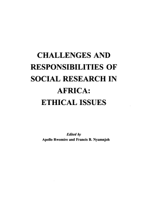 Challenges and Responsibilities of Social Research in Africa PDF