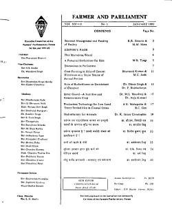 Farmer and parliament PDF