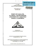 Ports of Oakland  Alameda  and Richmond  and Ports on Carquinez Strait  California PDF