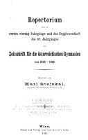 Zeitschrift f  r die deutsch  sterreichischen Gymnasien PDF