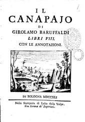 Il canapaio di Girolamo Baruffaldi libri 8. Con le annotazioni
