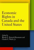 Economic Rights in Canada and the United States PDF