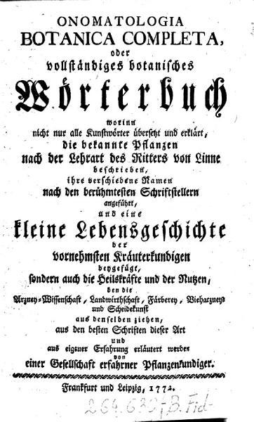 Onomatologia botanica completa oder vollst  ndiges botanisches W  rterbuch  etc   PDF