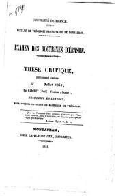 Examen des doctrines d'Érasme