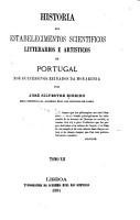 Historia dos estabelecimentos scientificos PDF