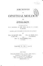 Archives of Ophthalmology and Otology: Volume 6