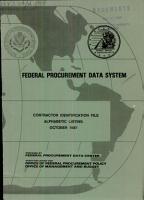 Federal Procurement Data System PDF