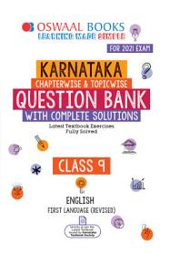 Oswaal Karnataka SSLC Question Bank Class 9 English First Language Chapterwise   Topicwise  For 2021 Exam  PDF