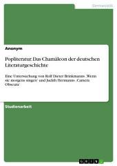 Popliteratur. Das Chameläon der deutschen Literaturgeschichte: Eine Untersuchung von Rolf Dieter Brinkmanns 'Wenn sie morgens singen' und Judith Hermanns 'Camera Obscura'