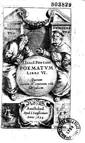 J. Isacii Pontani Poematum libri VI...