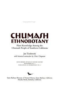 Chumash Ethnobotany