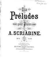 6 preli︠u︡dīĭ dli︠a︡ fortepīano, soch. 13